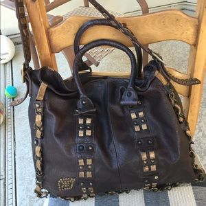Vintage Betsey Johnson Brown Leather Purse